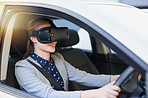 Test driving a new car with virtual reality