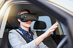 Integrating virtual reality into the driving experience