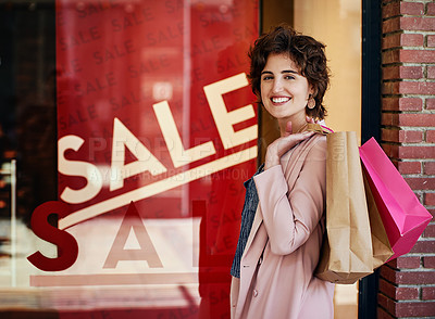 Buy stock photo Shot of people shopping on the weekend