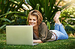 Blogging on the grass