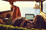 All she needs is the internet and a view