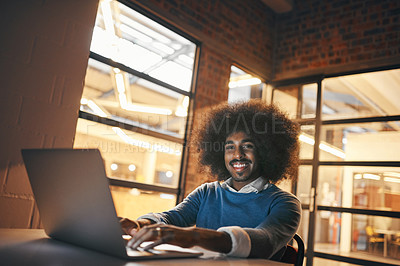Buy stock photo Cropped shot of a young designer working in the office