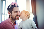 One of life's greatest pleasures, kisses from your daughter