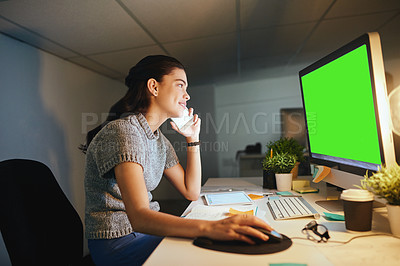 Buy stock photo Shot of a young businesswoman at the office
