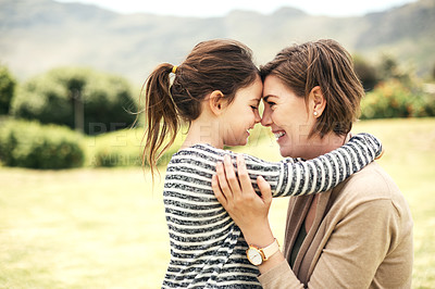 Buy stock photo Shot of a mother spending quality time with her young daughter