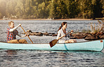 The best days are spent in a canoe