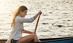 She loves the feeling rowing gives her