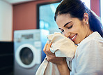 The refreshing smell of clean laundry