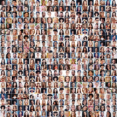 Buy stock photo Composite shot of a diverse group of people