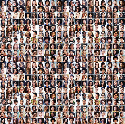 Buy stock photo Composite shot of a diverse group of women