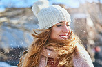 The amazing feeling of snow on your face