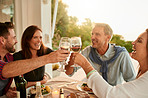 Nothing like sharing a glass of wine with friends