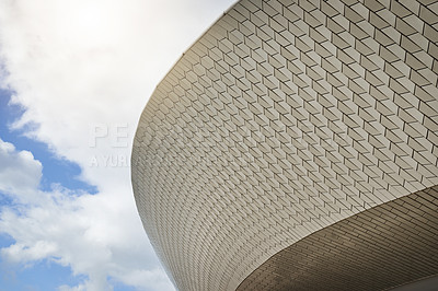 Buy stock photo Low angle shot of a sports stadium