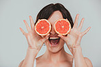 You help protect your eyes when you eat grapefruit