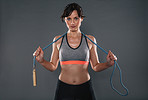 Just a jump rope will get you burning tons of fat