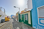 Old streets and houses of Santa Cruz, La Palma, Span