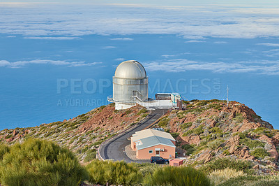 Buy stock photo Observatorio del Roque de los Muchachos, La Palma