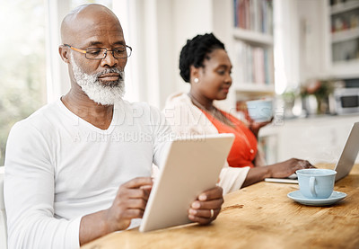 Buy stock photo Shot of a mature couple at home