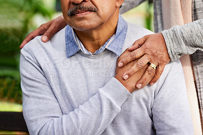 Buy stock photo Closeup shot of a mature couple spending quality time together at the park