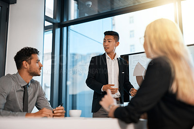 Buy stock photo Cropped shot of businesspeople at work in a corporate office