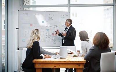 Buy stock photo Shot of businesspeople in an office