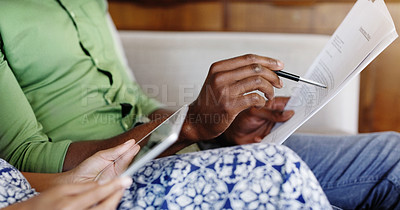 Going over their home budget together on different devices