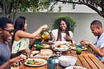 Food is best shared with friends and family