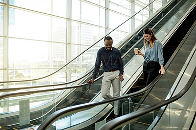 Buy stock photo Shot of businesspeople in the workplace