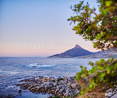 Buy stock photo Lion's Head, Table Mountain National Park, Cape Town, South Africa