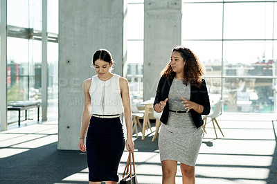 Buy stock photo Cropped shot of young businesswomen at work