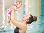 She'll grow up with a joy for swimming just like mom