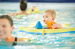 Babies can start swimming lessons as early as three months