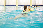 Babies exercise all muscle groups in the water