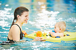Swimming with your baby is a fun and exciting activity
