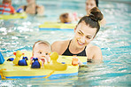 Swimming is safe for babies as long as you're vigilant