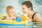 Make swimming lessons as fun as possible