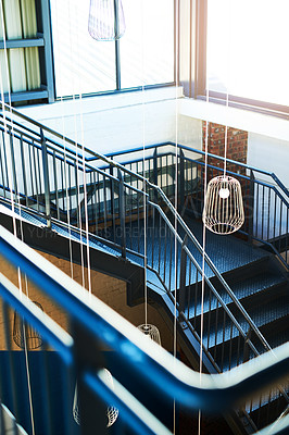 Buy stock photo Shot of a staircase in a building