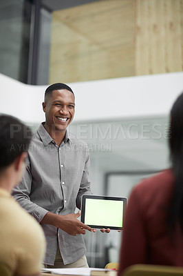 Buy stock photo Shot of young businesspeople in a modern office