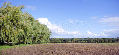 Buy stock photo A photo of the countryside in early springtime