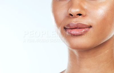 Buy stock photo Studio shot of an unrecognizable young woman posing against a white background