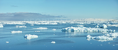 Buy stock photo A photo of the Ilulissat Icefjord, Greenland