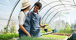Managing their greenhouse online
