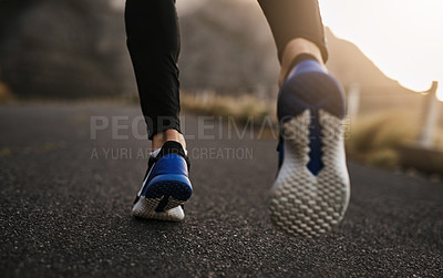 Buy stock photo Closeup shot of an unrecognizable man exercising outdoors