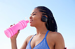 Always drink plenty of water when exercising outdoors
