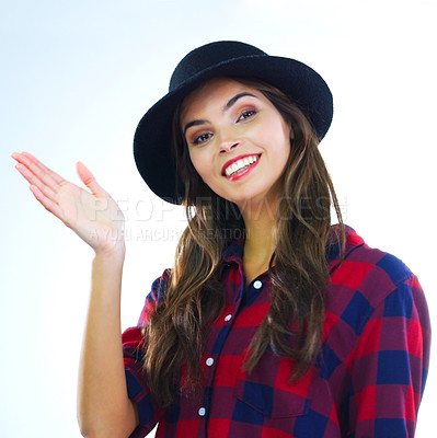 Buy stock photo Cropped shot of a young woman waving against a white background