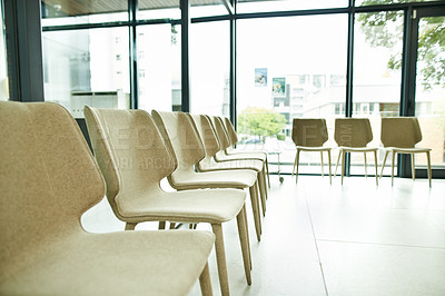 Buy stock photo Shot of an empty waiting room
