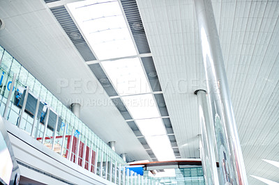 Buy stock photo Shot of the inside of an airport terminal