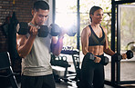 A couple that gym together stick together