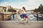 Peddling through the city of Paris