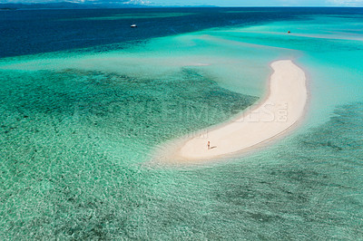 Buy stock photo Shot of a scenic view of an island